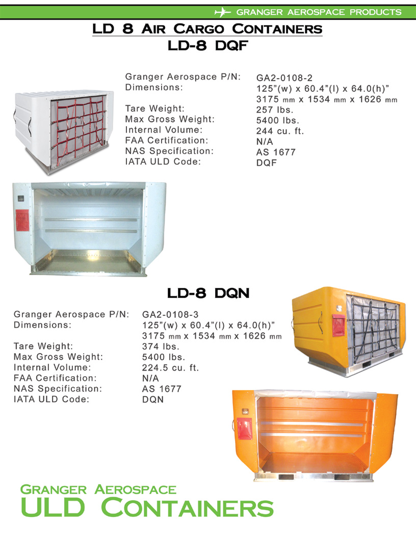 LD 8 Specifications, Dimensions, LD 8 Air Cargo Container Dimensions, DQF Dimensions, DQN dimensions